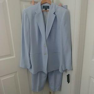 NWT Ralph Lauren Silk pant suit/ pants jacket